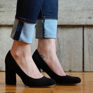 Isola Elani Suede Block Heels Pumps Size 8.5